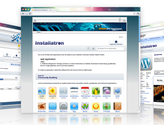 Screenshot van installatron